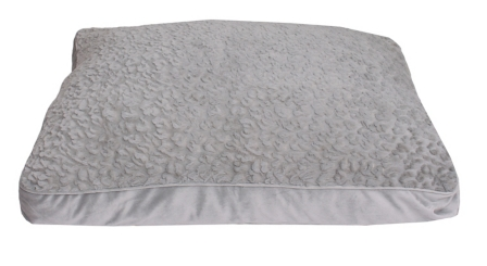 Chubby Faux Fur Gray Pet Bed