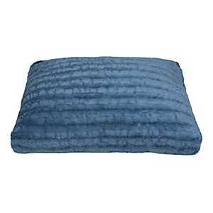 Blue Faux Fur Pet Bed