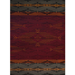 Multicolor Geometric Stripe Rug, 5x7
