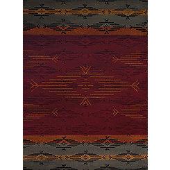 Multicolor Geometric Stripe Rug, 8x11