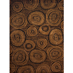 Brown Lumber Lodge Area Rug, 5x7