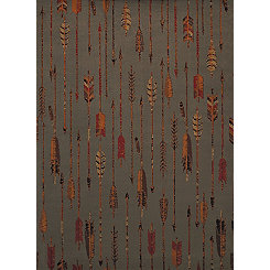Gray Arrow Area Rug, 8x11