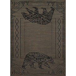 Gray Geometric Grizzly Area Rug, 8x11