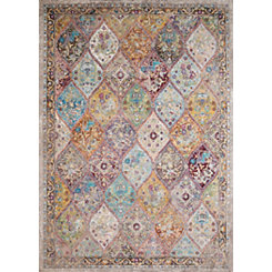 Multicolor Tapestry Area Rug, 5x7