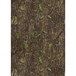 Green Leafy Camouflage Area Rug, 5x10