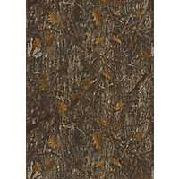 Brown Leafy Camouflage Area Rug, 5x10
