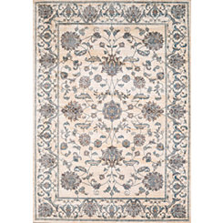 Cream Wiley Floral Area Rug, 8x11