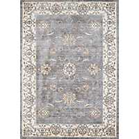 Gray Wiley Floral Area Rug, 5x8
