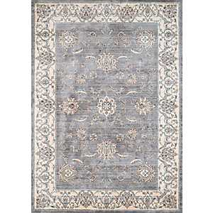 Gray Wiley Floral Area Rug, 8x11