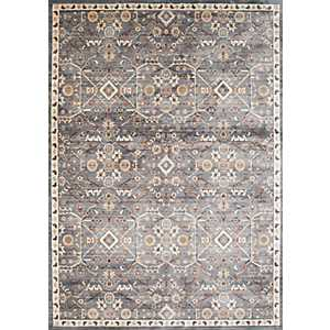 Gray Archer Floral Area Rug, 8x11