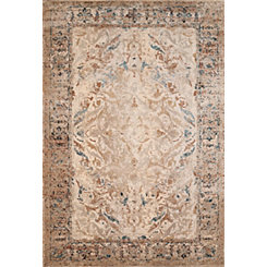 Tan January Area Rug, 8x11