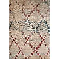 Distressed Geometric Diamond Area Rug, 8x11
