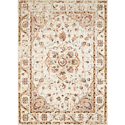Ivory Vera Floral Area Rug, 5x7