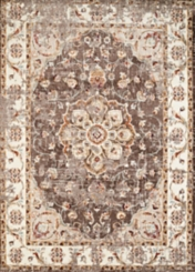 Taupe Vera Floral Runner