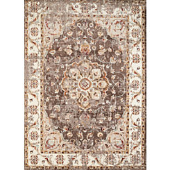 Taupe Vera Floral Area Rug, 5x7