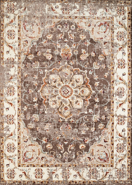 taupe vera floral area rug 13x15