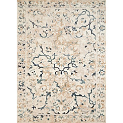 Ivory Carver Antique Area Rug, 5x7
