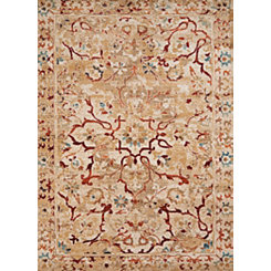 Tan Carver Antique Runner