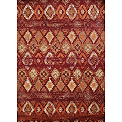 Natural Weathered Diamond Area Rug, 5x7