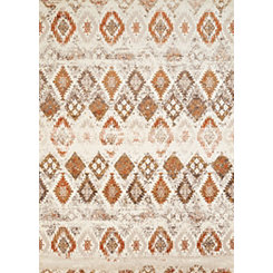 Natural Weathered Diamond Area Rug, 8x11