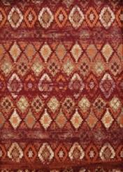 Red Weathered Diamond Area Rug, 8x11