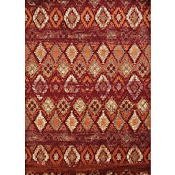 Red Weathered Diamond Area Rug, 8x11