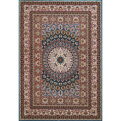 Red Jasper Medallion Area Rug, 5x7