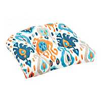 Blue and Orange Outdoor 19 in. Seat Cushion