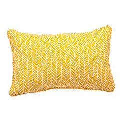 Yellow Herringbone Accent Pillow