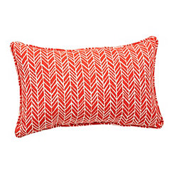Orange Herringbone Accent Pillow