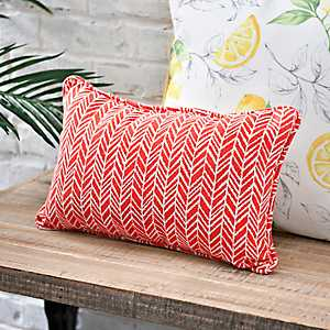 Orange Herringbone Accent Pillow