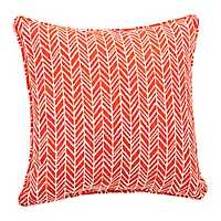 Orange Herringbone Pillow