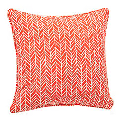Orange Herringbone Pillow