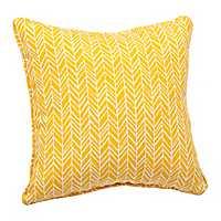 Yellow Herringbone Pillow