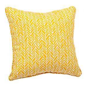 Yellow Herringbone Pillow