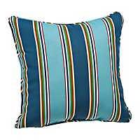 Blue Stripe Outdoor Pillow