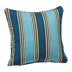 Blue Stripe Outdoor Pillow