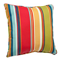 Red Stripe Outdoor Pillow