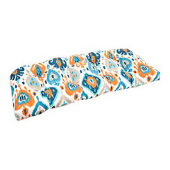 Blue and Orange Settee Cushion