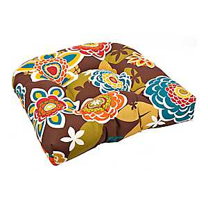 Annie Chocolate Outdoor Seat Cushion