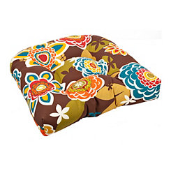 Annie Chocolate Outdoor Seat Cushion