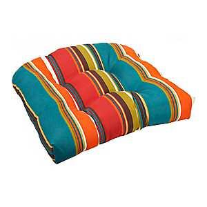 Brown Stripe Outdoor Seat Cushion