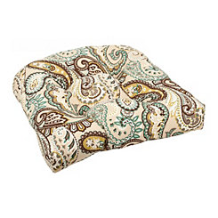 Tamara Paisley Outdoor Seat Cushion