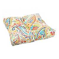 Colorful Paisley Outdoor Ottoman Cushion
