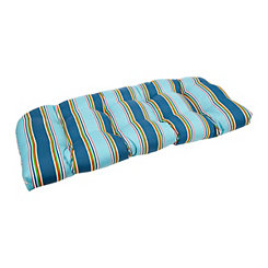Blue Stripe Settee Cushion