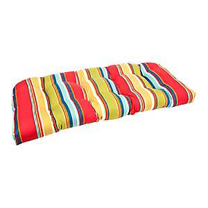 Red Striped Settee Cushion