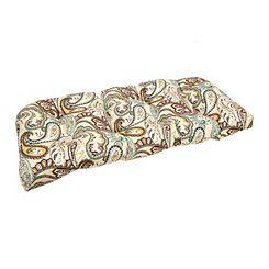 Brown Paisley Settee Cushion