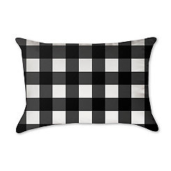 Black Buffalo Check Accent Pillow