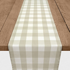 Beige Buffalo Check Table Runner