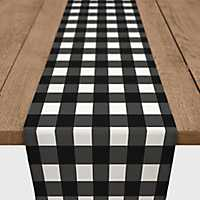 Black Buffalo Check Table Runner